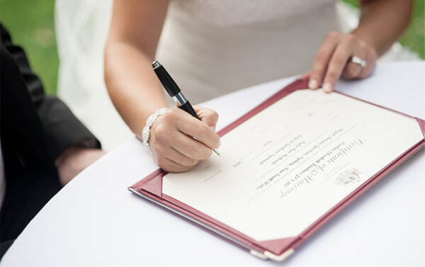 Marriage Licence and Certificate